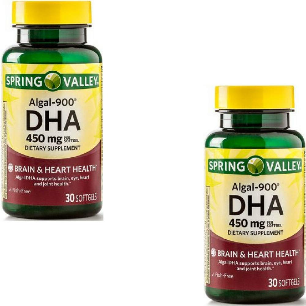 Spring Valley - ALGAL-900, DHA 450 mg, 30 Softgels by Spring Valley (2 Pack)