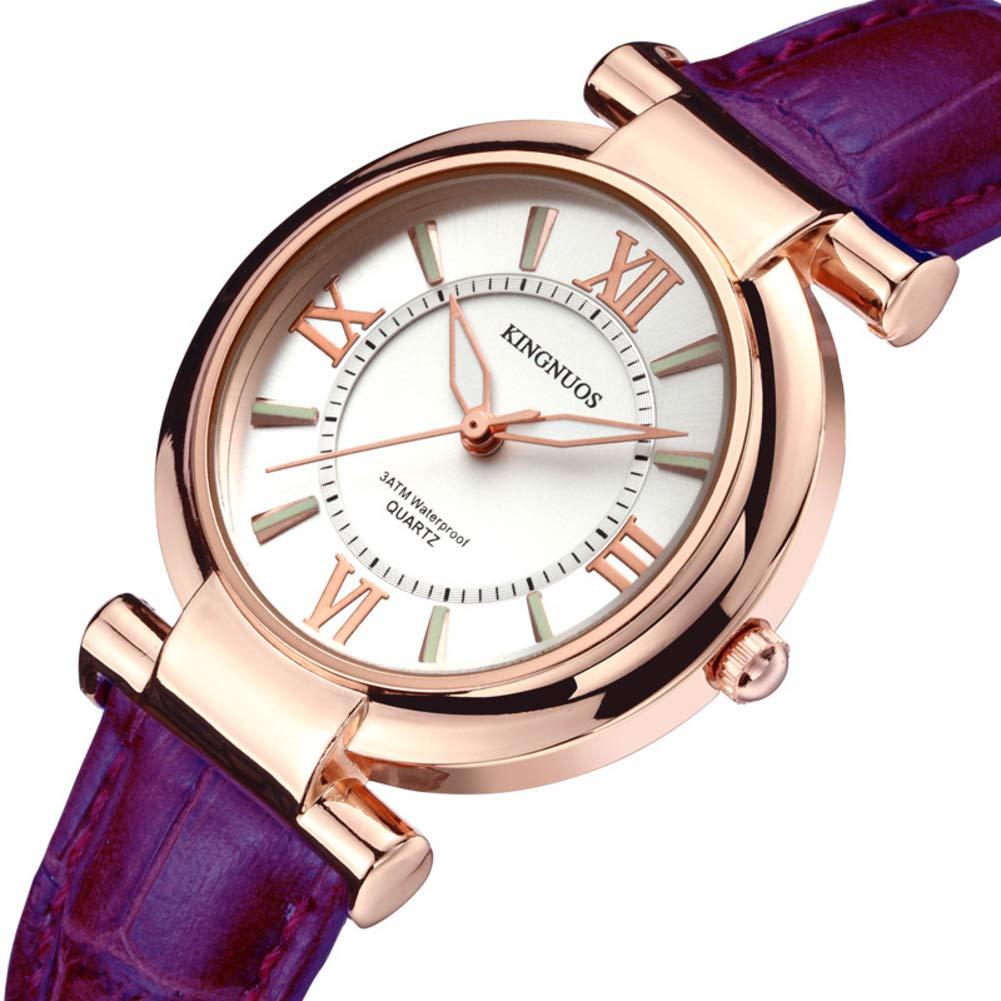 Reloj Las Mujeres de Ocasionales Números Romanos Réplica Luminosa-A: Amazon.es: Relojes