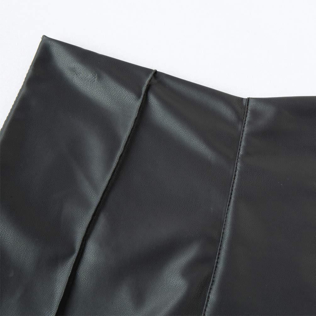 bffa73c0dfd ... Pelisy Womens Sexy Faux Leather Pants Black Skinny High Waisted Leggings  ...