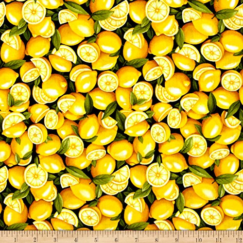 Fabri-Quilt Farmer John Garden Lemon Fabric By The Yard