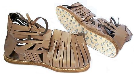 d0dd72ba7b4a Amazon.com   Medieval Roman Leather Caligae Viking Sandals ABS ...
