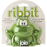 HIC Harold Import Co. 10010-HIC Joie Ribbit Frog Kitchen Dish Scouring Pad & Holder Home Decor Products