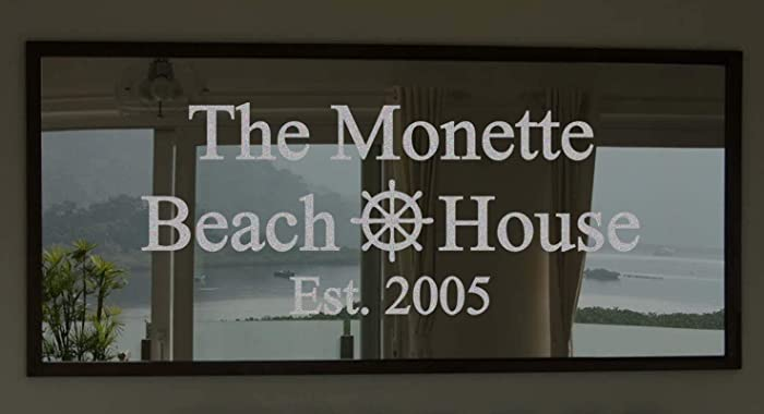 Amazon Com Custom Family Beach House Frosted Etched Glass