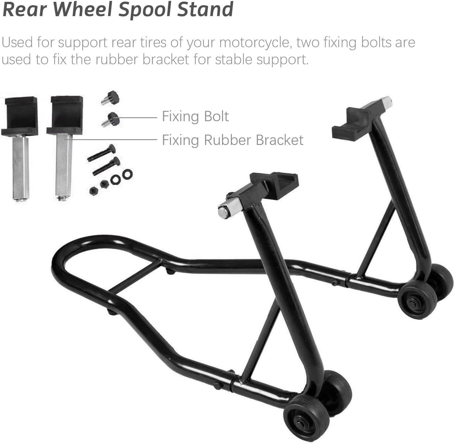 SUNROAD Motorcycle Bike Rear Wheel Swingarm Spool Lift Stand Paddock Stands,Black