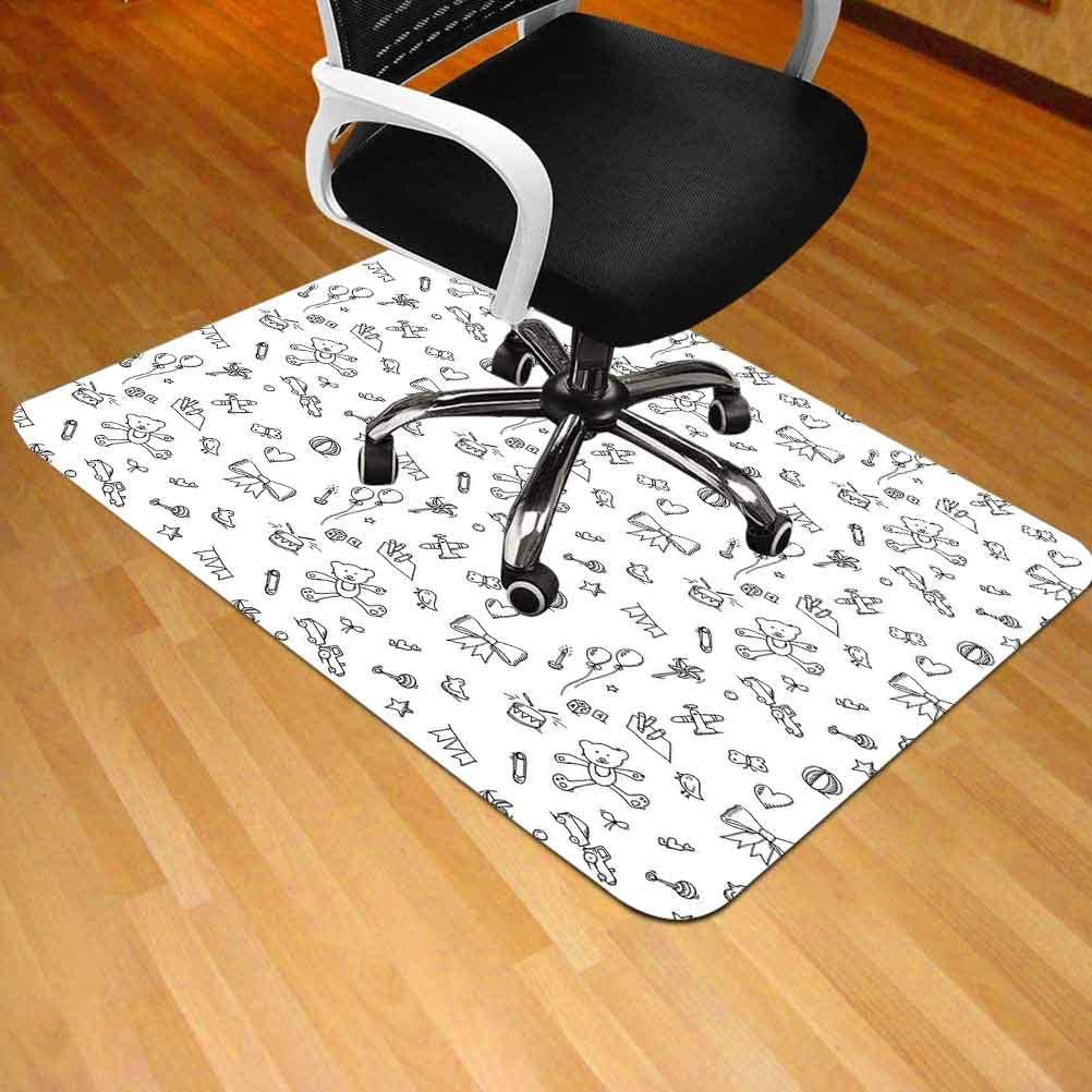 Office Carpet Chair Mat Beautiful Pink Fairy Princess Costume Print Crown with Dia 30 x 47 Rectangle Office Home Floor Protector mat Chairmats,