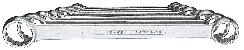 GEDORE 4-8 Flat Ring Spanner Set 8 pcs 6-22 mm