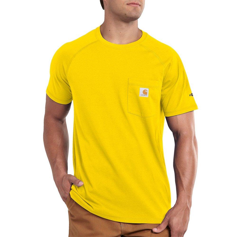 Carhartt メンズ ビッグ&トール フォースコットン 半袖Tシャツ リラックスフィット B079C5CYBC Large|Cyber Yellow Cyber Yellow Large