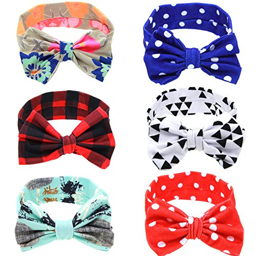 Baby Bows Headbands Bowknot Hair Wraps Butterfly Knot Multicolor Hoops for Newborn Toddlers Girls(6 -
