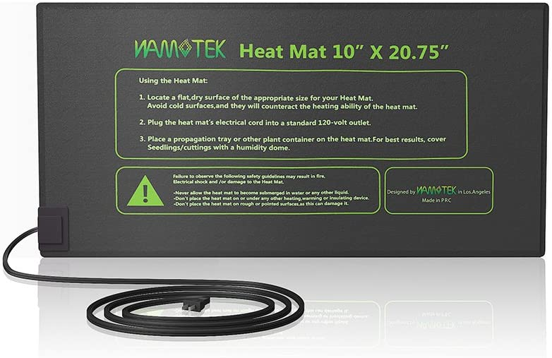 "Seedling Heat Mat, Durable Waterproof Seed Germination Heating Mat, Warm Hydroponic Heating Pad 10"" x 20.75"" MET Standard"