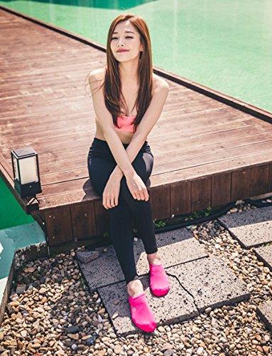 NBERA 2econdskin Barfuß Wasser Haut Schuhe Aqua Socken für Beach Swim Surf Yoga Übung 2017 Rosa Fest