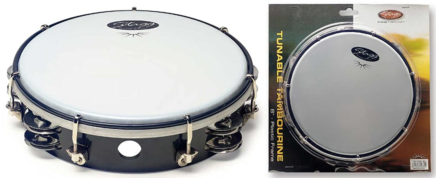 Stagg TAB208P BK Tambourin accordable 12830 Tambourins