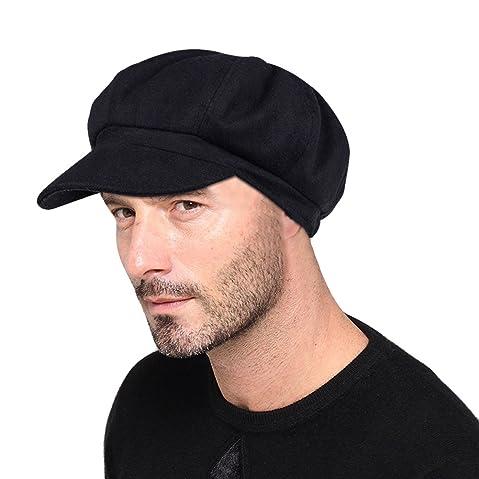VBIGER Newsboy Hat Beret Hat Fedora Wool Blend Cap Collection Hats Cabbie  Visor Cap for Men Women cd0c3206664