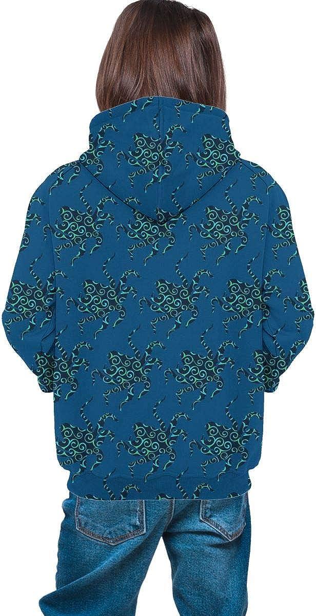 Lichenran Octopus Men 3D Print Pullover Hoodie Sweatshirt with Front Pocket