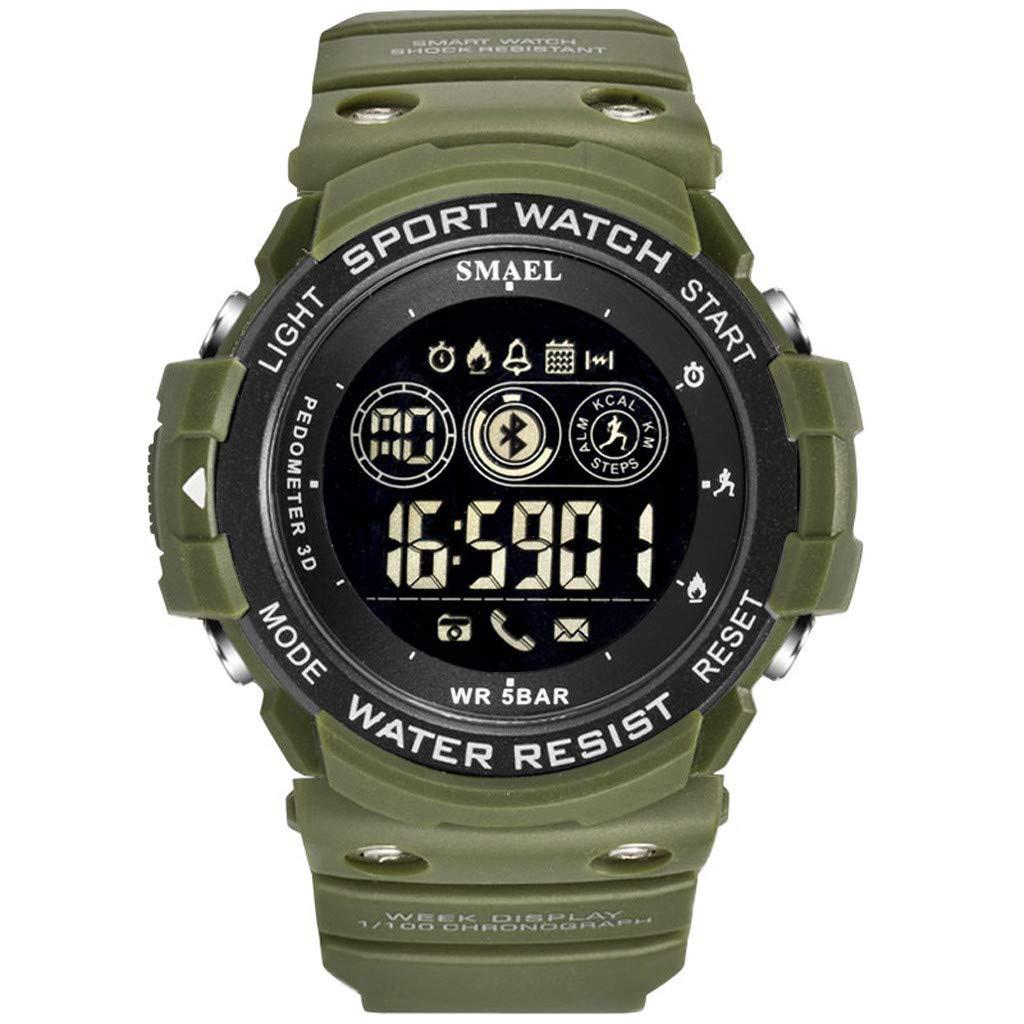 Guartz Watches for Men Digital Under 10 Dollars ❤ SMAEL Sport Men Fashion Military Running Bluetooth LED Display Digital Watch