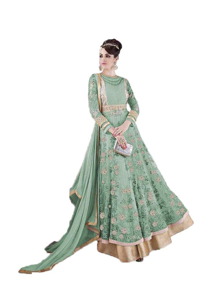 Readymade New Designer Bollywood Indian/Pakistani Anarkali Suit VF (X-LARGE-44, Parrot)