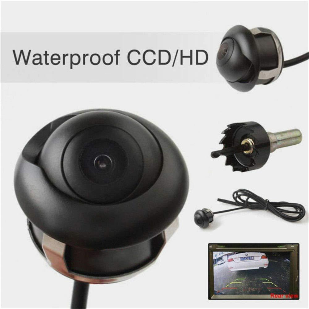 LanLan Ecrans de cam/éras de recul HD Cam/éra de recul Vue de Face//arri/ère//arri/ère de Voiture rotative CCD 360 degr/és rotative