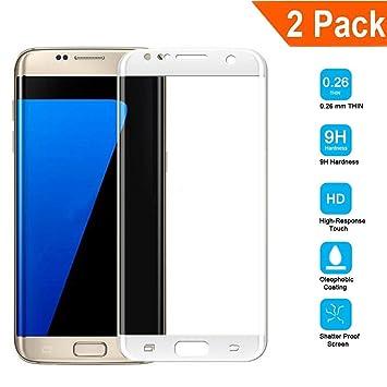 2 Unidades]Samsung Galaxy S7 Edge Protector de Pantalla[Cobertura Completa], Galaxy S7 Edge Cristal Vidrio Templado 9H Tempered Glass Screen Protector para Samsung S7 Edge Smartphone Flim Protection: Amazon.es: Electrónica