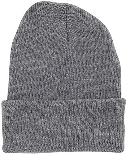Beanie Cuff (DealStock Plain Knit Cap Cold Winter Cuff Beanie (40+ Multi Color Available) (Light Gray))