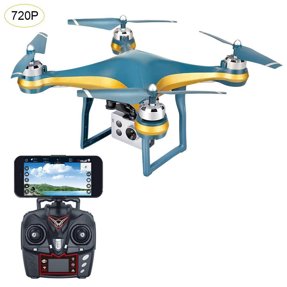 Coil.c Mini Drone Quadricottero RC Quadricottero WiFi FPV con 720P   1080P grandangolo HD, K10 Quadricottero GPS Posizione Automatic Return HD Aerial Photography Remote Control Drone, oro, 720P