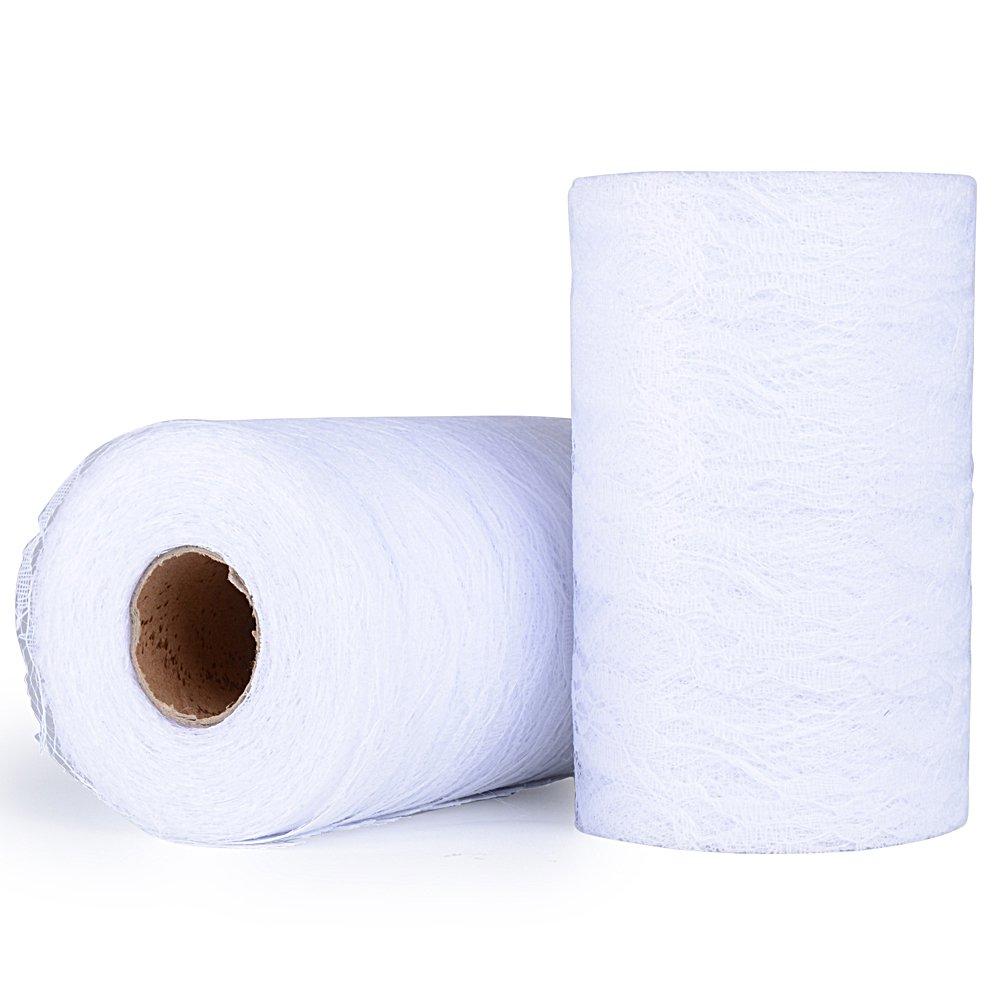 Blanco 30m Encaje Cinta Blanco 4,5cm Encaje Rollo Decorativo para Novia Nupcial de Boda para Decoraci/ón Manualidades Bricolaje DIY Borde Festoneado