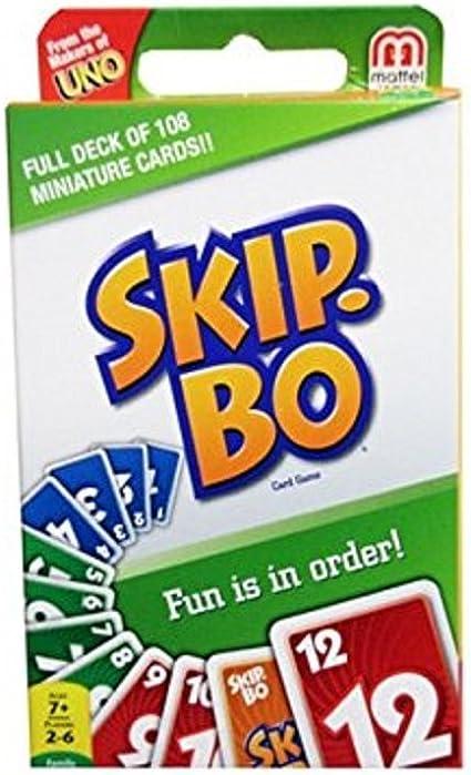 Mattel Skip-Bo Mini Card Game: Amazon.es: Juguetes y juegos