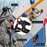 NewDoar Climbing Harness, Women Man Child Half Body Safe Seat Belts for Mountaineering Rock Climbing,Mountaineering Outward Band Fire Rescue,Expanding Training,Rappelling Gear
