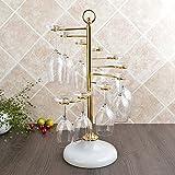 WWJ/ Creative wine rack. iron glass rack. European wine glass shelf. upside down hanging Cup holder. red wine glass rack , golden