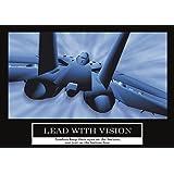 Lead with vision Poster -ORIGINAL- Barney Stinson Poster - 13/13 - How I met your mother - Comment j'ai rencontré votre mère - Poster - Motivation Poster - Büro Poster - Barney Stinson Office Poster - Jet Poster - motivational poster Lead with vision jet plane