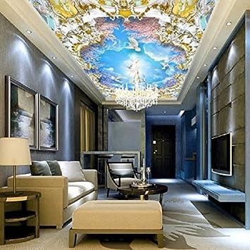 Leegt 3D Sueño Europeo Custom Frescos Techos Pinturas Límite Angel ...