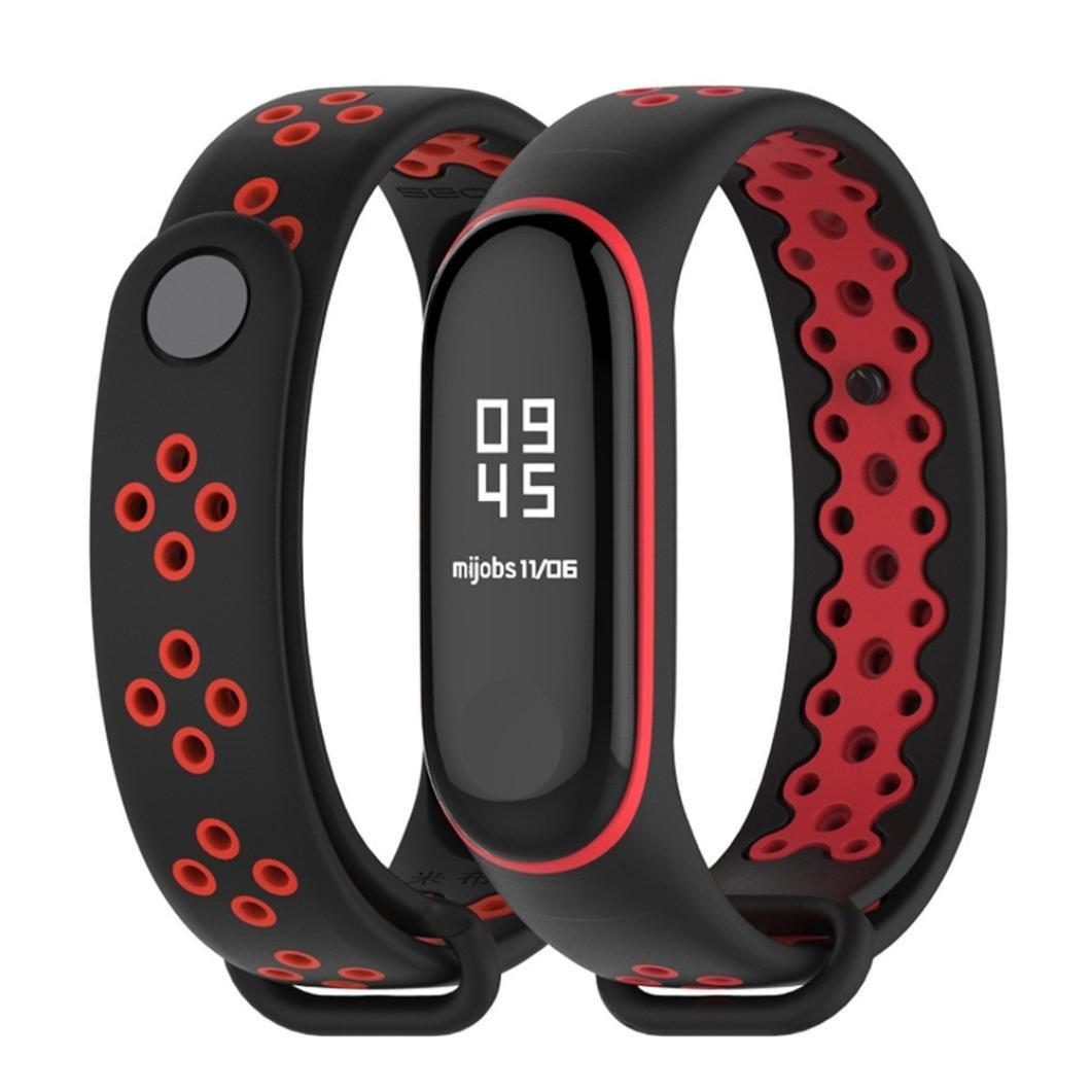 BZLine® Mi Band 3 Uhrenarmband Dauerhaftes Ersatz TPU Anti-Aus-Armband Sport Armband für Xiaomi Mi Band 3 (Grün)