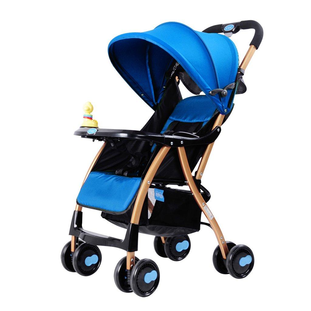 赤ちゃんのベビーカーライト折りたたみリクライニング子供の傘のトロリー(青)(紫)69 * 46 * 97センチメートル ( Color : Blue ) B07BSRHDFY