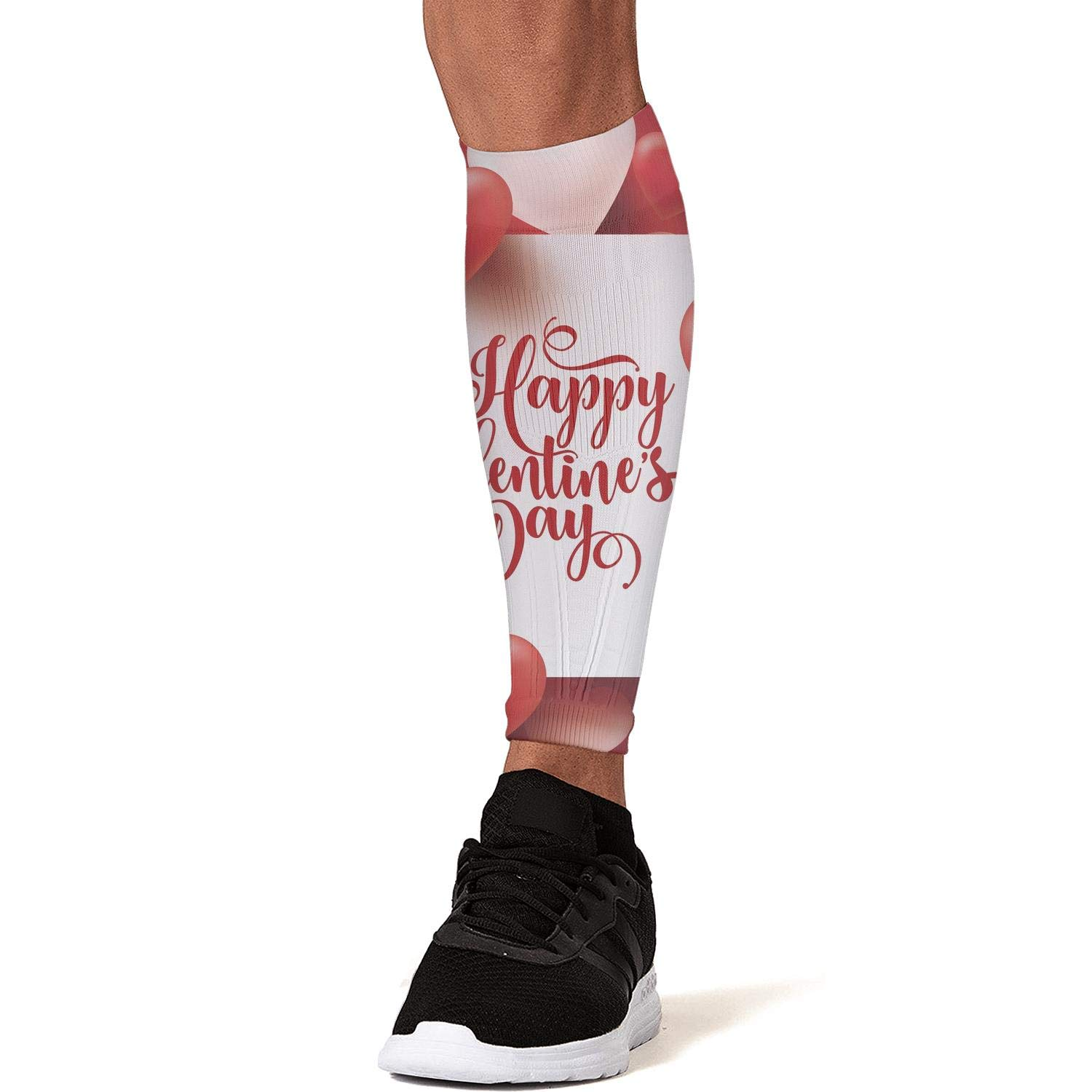 Smilelolly Valentines Day Red Heart Calf Compression Sleeves Helps Faster Recovery Leg Sleeves for Men Women