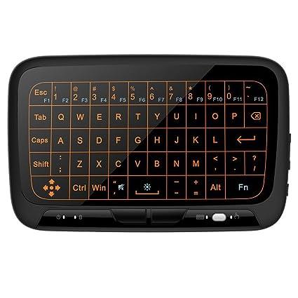 Mitid Mini Combo de ratón touchpad remoto Teclado inalámbrico de 2,4 GHz para Android TV Box, caja de Google TV, IPTV, Smart TV y Más ..
