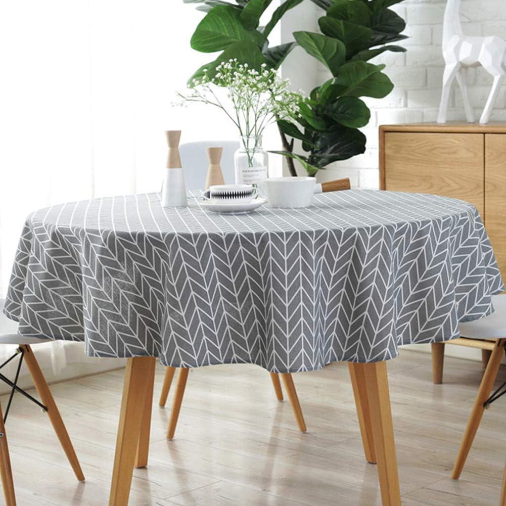 Tischdecke Tischwäsche weiß rund Ø 322 cm für runde Bankettische Ø 183 cm