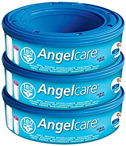 3 X Angelcare Angel care Refill Cassette Replacement bag Nappy Disposal System