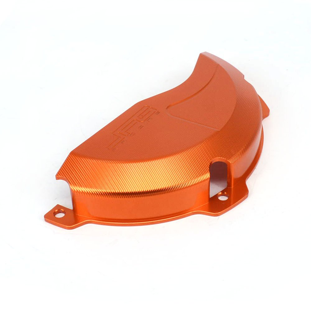 JFG RACING CNC Aluminum Billet Orange Engine Case Clutch Cover Guard Protector For KTM EXC 250 EXC 300 2009-2016 250SX 2009-2015 by JFG RACING (Image #4)