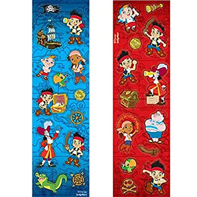 Disney Jake and the Neverland Pirates Sticker | Party Favor | Pack of 8: Toys & Games