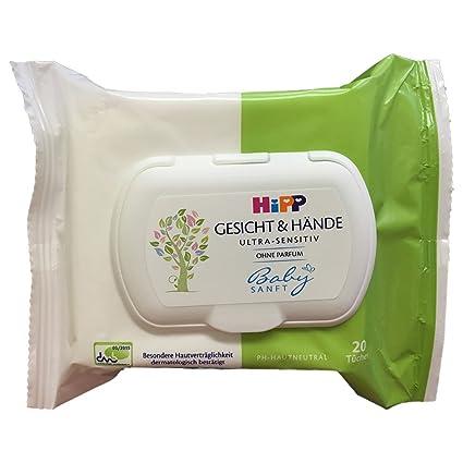 toallas HiPP suave para bebés cara y la mano (1x20 toallas)