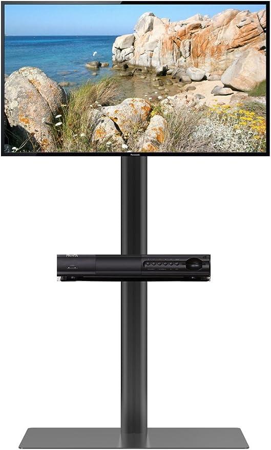 Heavy Duty TV Soporte de suelo para pantalla plana soporte de pared para TV, LED de tamaño de hasta 65 pulgadas ajustable altura (sin ruedas) soporte de televisor de pantalla Base soporte: