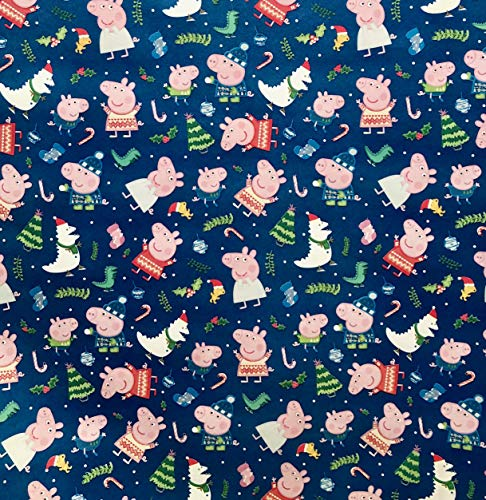 Peppa The Pig Holiday Wrapping Paper 60 Square Feet (Wrap Peppa Christmas Gift Pig)