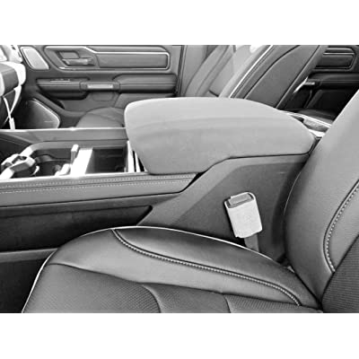 Auto Console Covers- Center Console Armrest Lid Cover Waterproof Neoprene Fabric. Compatible with The 2020-2020 Ram 1500, 2500, 3500 (Limited, Laramie, Big Horn, and Rebel Models). Gray: Automotive