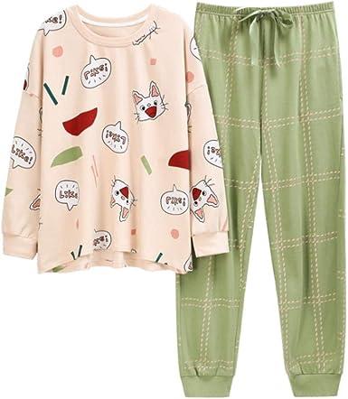 Pijamas para Mujer, Algodón Animal De Dibujos Animados Gato ...
