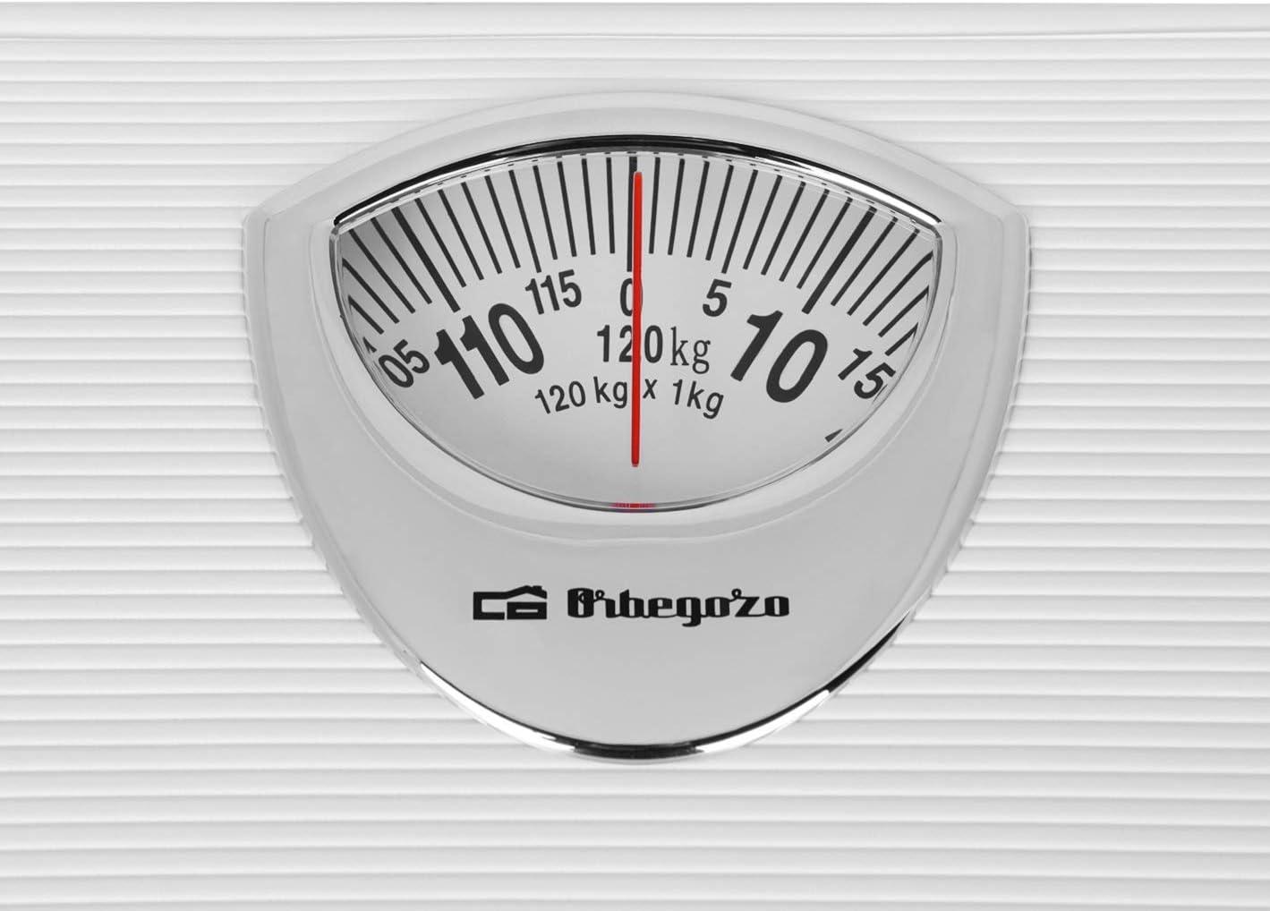 Orbegozo PB 2010 – Báscula de baño mecánica, diseño antideslizante ...