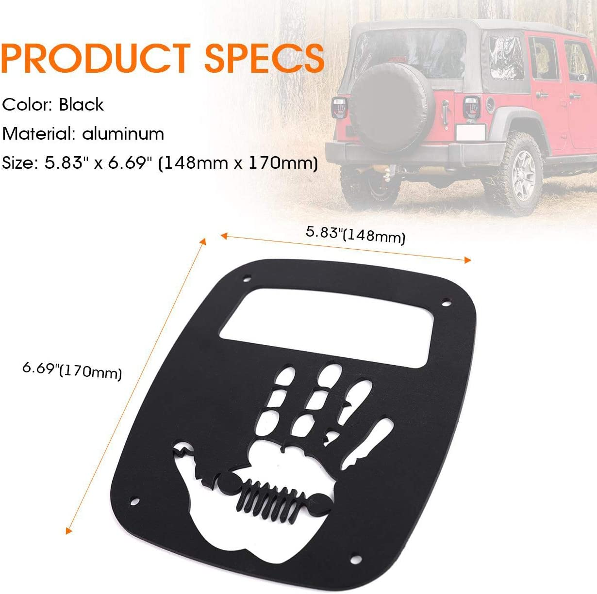 Light & Lighting Accessories Palm Partol Black Exterior Rear Tail ...