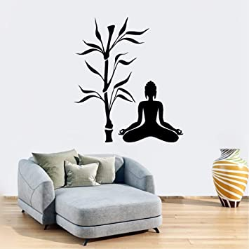 Amazoncom Room Wall Stickers Quotes Buddha And Bamboo Tree Yoga