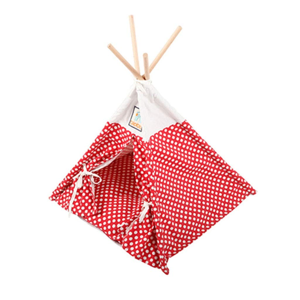Red 5050cm Red 5050cm Playpens & Pens Pet Triangle Tent Collapsible Outdoor Tent Small And Medium Dog Kennel Winter Washable Tent Home Indoor Cat Delivery Room Cool And Breathable Pet Nest (color   Red, Size   50  50cm)