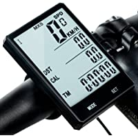 Redlemon Computadora y Velocímetro Digital para Bicicleta, Pantalla LCD IPX6 a Prueba de Agua, Retroiluminación, Odómetro, Medidor de Distancia, Calorías, Tiempo, Temperatura y más