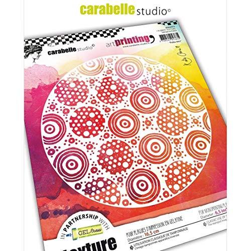per lastre in gel per monotipo Pois Timbro texture rettangolare in gomma della gamma Art Printing di Carabelle Studio