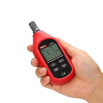 UKCOCO Mini temperatura digital, medidor de humedad, higrómetro ...