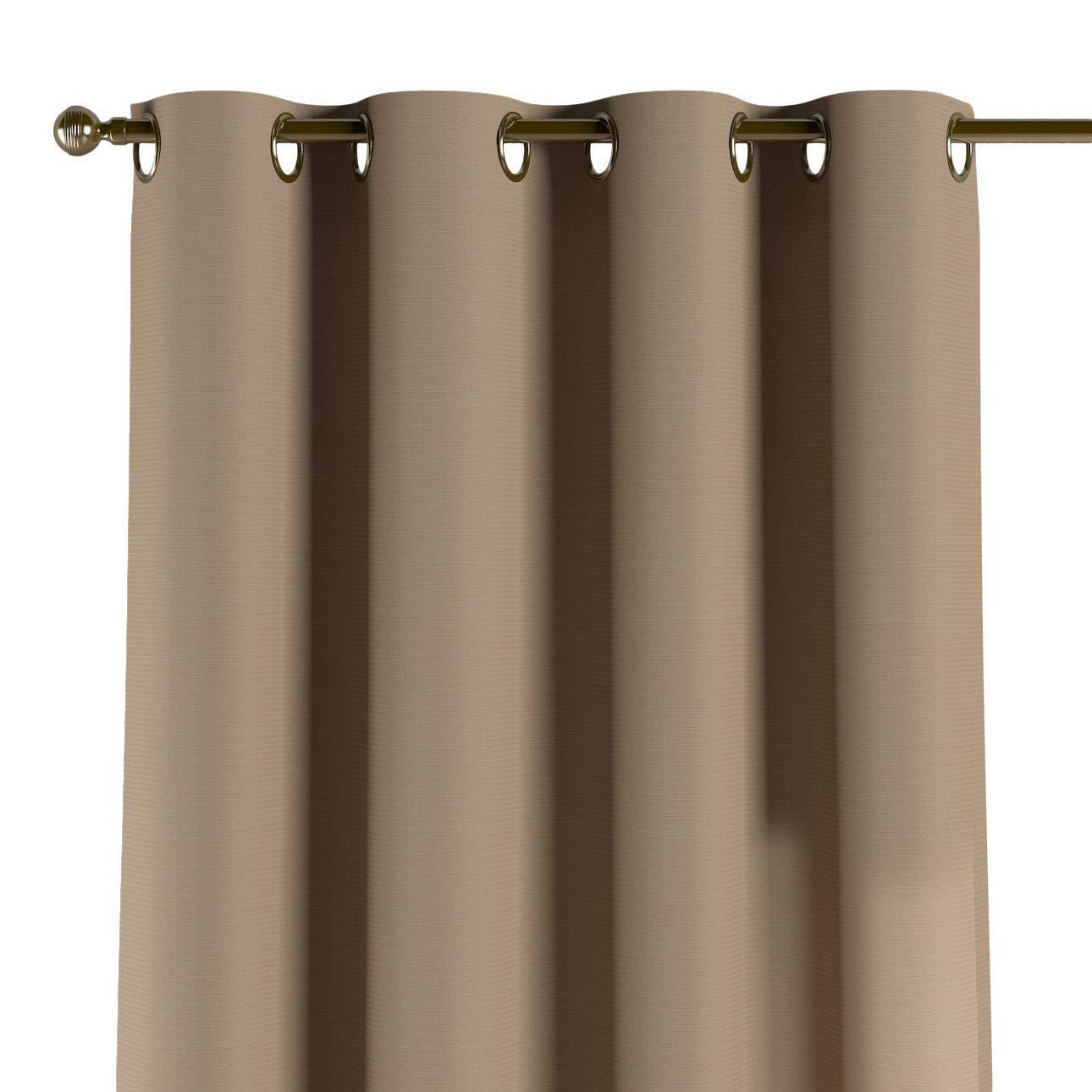 Dekoria Ösenschal Dekoschal Blickdicht 1 Stck. 130 × 260 cm grau-braun Maßanfertigung möglich